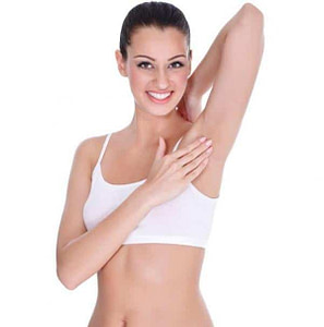 hair free underarms with underarm epilator