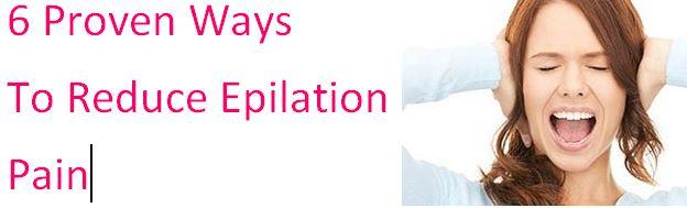 reduce epilator pain